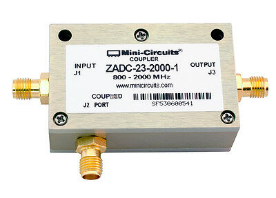 Directional Coupler 800 - 2000 MHz, Minicircuits ZADC-23-200-1   LOT OF 5 Pieces