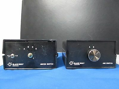 Lot of 2 Black Box Corporation ABC / ABCDE Serial & Parallel Manual Switches