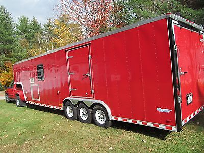 2000 Pace 36' 5th Wheel Car Hauling Trailer with Living Quarters In Excellent Co