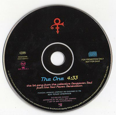 """The Power Generation / Prince """"the One"""" Rare Promo Cd Single"""