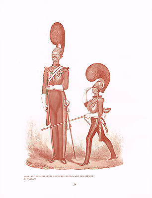 Showing Difference Between The Man & The Officer 1909 Antique Military Print