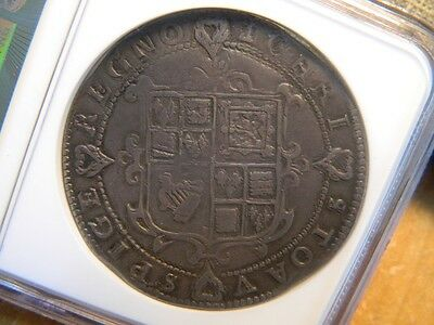 Rare ,charles 1St Tower Mint Silver Crown,mm Cross Calvary 1625-1626 High Grade