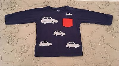 Boys Mini Boden Long Sleeved Top/tee Size 12-18 Months Years Cars