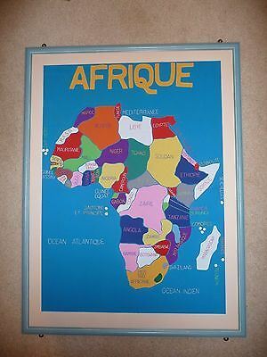 Large Framed Embroidered Map of Africa