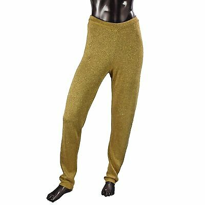 Vintage Contempo Casuals Gold Sweater Pants Elastic Waist Size Large