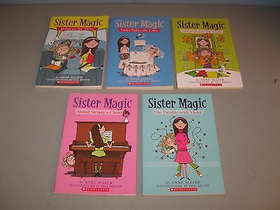 Lot of 5 Sister Magic books(( 1,3,4,5,6 / by Anne Mazer