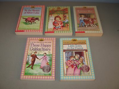 Lot of 5 The Little House books(( by Laura Ingalls Wilder