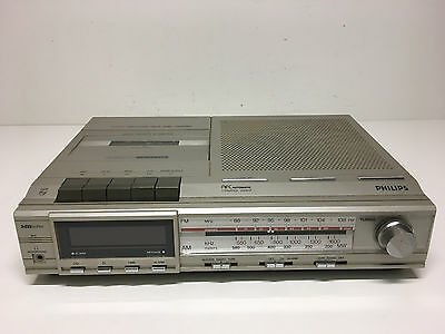 Philips D 7525 Electronic Clock Radio Recorder - Radiowecker - ohne Zuhbehör