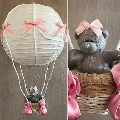 Handmade Pink Hot Air Balloon Lampshade with 'Me to You' Teddy