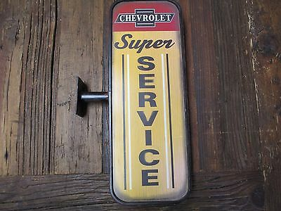 Chevrolet Dealership Service Sign All Metal Vintage Repro