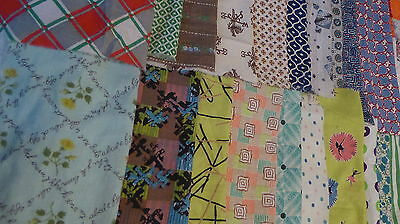 "Lot of 20 Vintage Feedsack 10=12"" Blocks-1/2 lb** Pieces Fabric Quilt top CRAFTS"