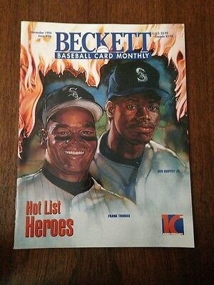 Thomas And Griffey  Beckett Baseball Card Price Guide November 1994 Issue #116
