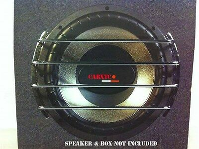 10 Inch Speaker Grill CHROME Sub Woofer Bar Grille Covers Guard AU10