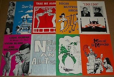 1970 Lot of 8 KENLEY PLAYERS Broadway OHIO Programs SHOW BOAT Blossom Time I DO