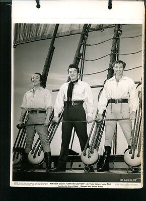 Victor Mature Bruce Cabot Leo Carrillo Vintage 8X11 Photo 1940 Captain Caution