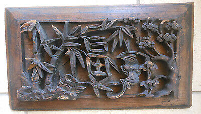 Antique Chinese Wooden Wall Carving