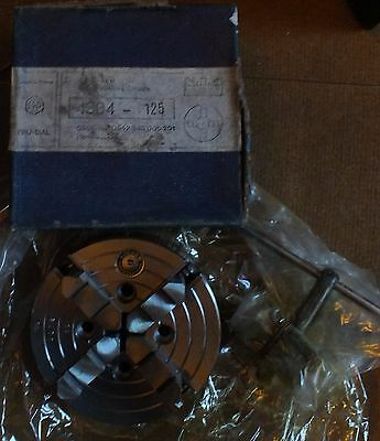 Bison 4 Jaw Independent Lathe Chuck Recess Mount 125mm  4304-125 suit Myford