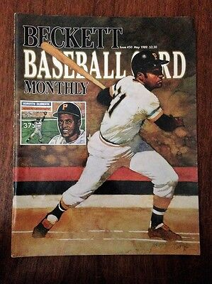 Roberto Clemente Cover Beckett Baseball Card Price Guide May 1989 Issue #50