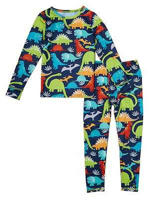 Cuddl Duds Toddler Boys Dinosaur Thermal Underwear Base Layer Set 2T-3T