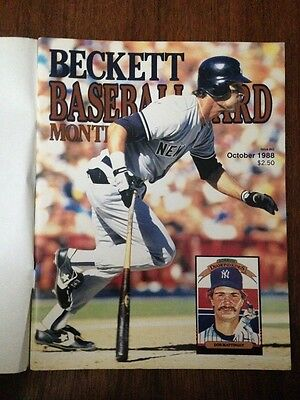 Don Mattingly Cover Beckett Baseball Card Price Guide October 1988 Issue #43