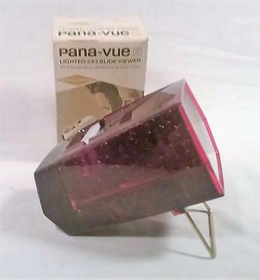 VINTAGE RED METAL FLAKE SAWYER'S PANA-VUE LIGHTED 2X2 SLIDE VIEWER 35mm