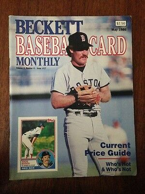 Wade Boggs Cover Beckett Baseball Card Price Guide May 1986 Issue #17