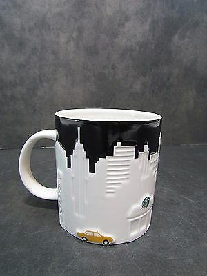 Starbucks New York Taxi Skyline Relief Mug 16OZ 2012