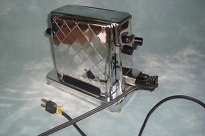 Vintage Toastess Chrome 2 Slice Turnover Toaster Model 202-Working very clean
