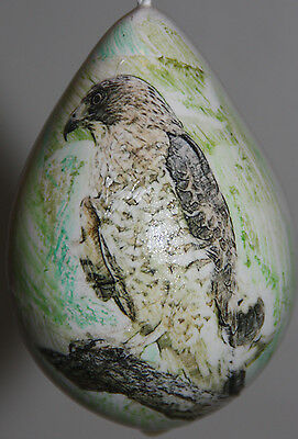gourd garden or Christmas ornament with hawk