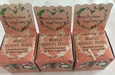3x Earth Mama Bottom Balm, Earth Mama Angel Baby, 2 oz Each , Exp 10/2017