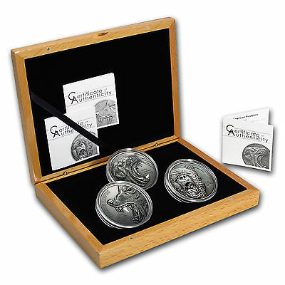 2015-2017 Cook Islands Silver North American Predators Set - Only 25 minted!