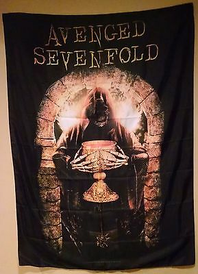 Avenged Sevenfold A7X Golden Arch Textile Fabric Cloth Poster Flag-New