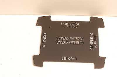 Toyo-View Toyo-Field Lens Copal Compur Seiko Shutter Spanner Wrench