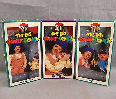 The Big Comfy Couch Lot of 3 VHS Videos Bugs and Hugs Privacy Please Why