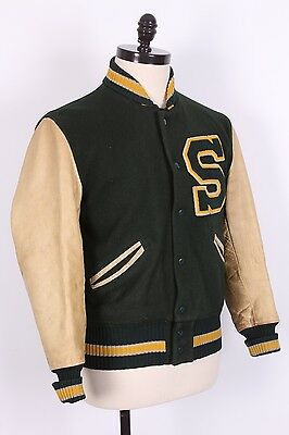Vtg 50S Whiting Letterman Varsity Coat Jacket Usa Mens Size 42