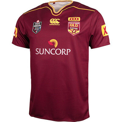 Queensland Maroons State Of Origin Mens 2016 CCC Players Pro Jersey Size S-6XL!