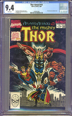 Thor Annual #14 CGC 9.4 NM WHITE Pages Universal CGC #1476837006