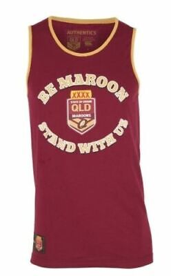 Queensland Maroons State Of Origin Heritage Training Singlet With White Trim!