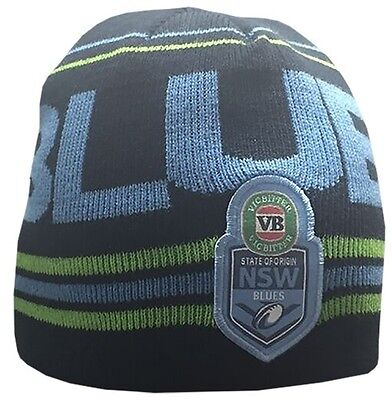 New South Wales Blues State Of Origin NRL 2016 Players Jacquard Knitted Beanie!