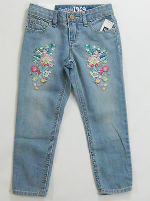 NWT Gap Kids Girls Size 6 Regular Super Skinny Skimmer Flower Embroidered Jeans