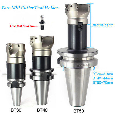 80mm Face Milling Cutter 6Flutes BT40 Toolholder L85mm Facing Mill Cutting Tool