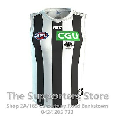 Collingwood Magpies AFL 2017 ISC Clash Guernsey Adults Sizes S-3XL! IN STOCK