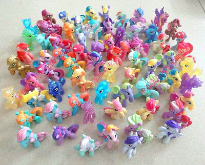 5pcs My Little Pony 2'' Mini Figures Collection Child Girl Toy Loose Lots Random