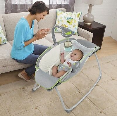 Ingenuity Soothing Sleep Rocker Light Rocking Sleeper Soothing Melody Sounds