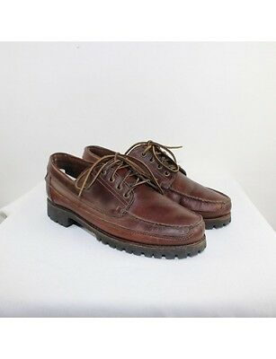 TIMBERLAND Men's Brown Leather Boat Shoes Size 12M