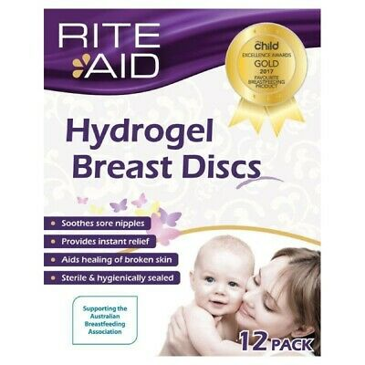 ツ Rite Aid Hydrogel Breast Discs Absorbs Leakage Soothes Cracked & Sore Nipples