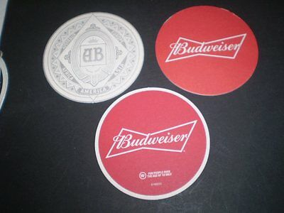 THREE different Budweiser beer coasters from Australia