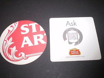 2 Beer advertising coasters  from Australia............ Stella Artois
