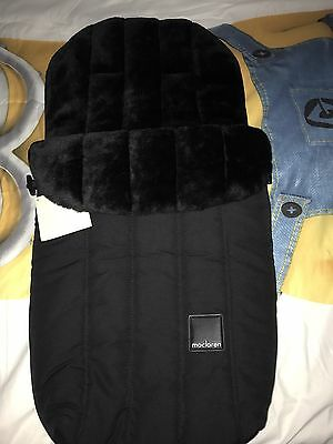 Brand New Stroller Footmuff Genuine MacLaren With Tags Zip Up Sherpa Lined.