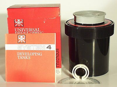 Brand New Paterson System 4 Photography Film Universal Developing Tank w/ Manual